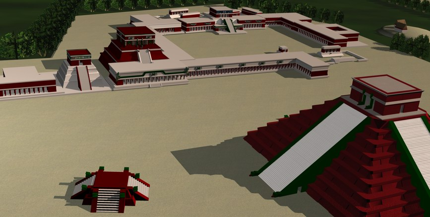Central Place of Cichen Itza-Reconstruction